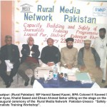 RMNP-UNESCO Safety for Journalists Training workshop Liaquatpur  District RahimyarKhan Rural Pakistan, January 22-23, 2011  Pakistan most dangerous for media